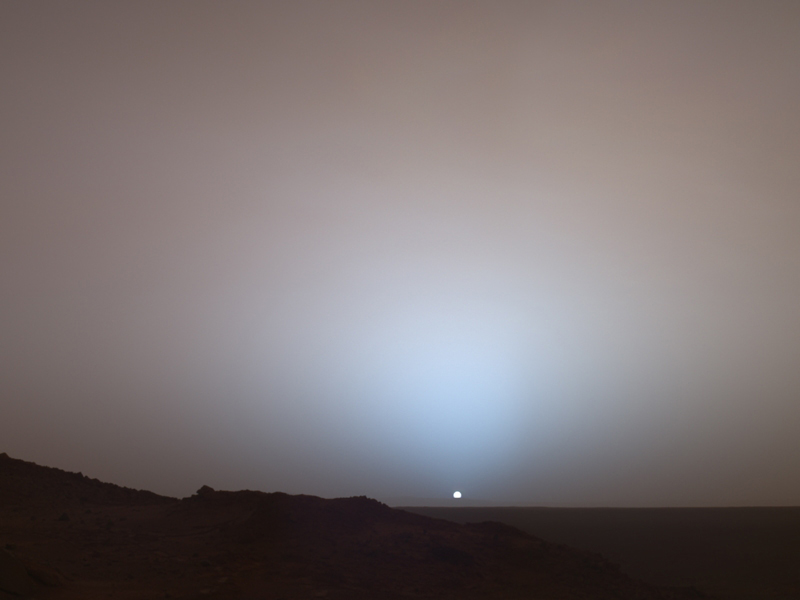 Mars Exploration Rover Spirit captured this stunning view