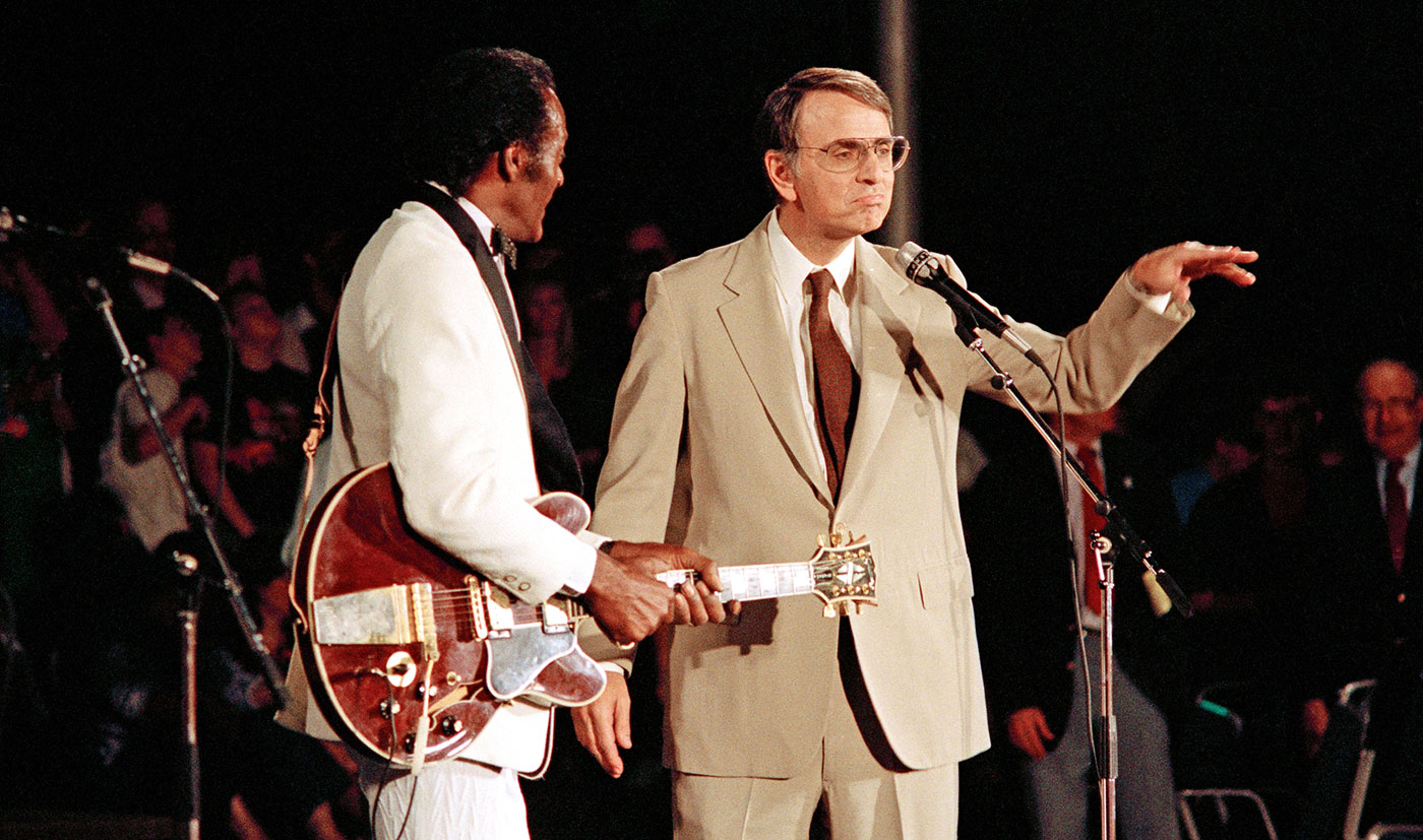 Chuck Berry and Carl Sagan