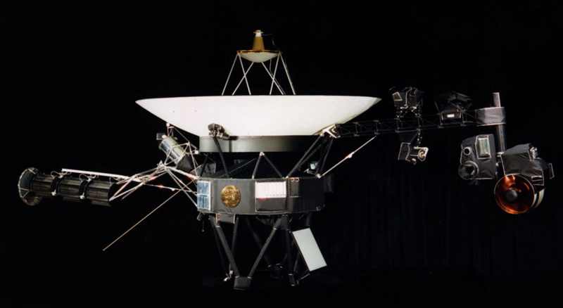 An image of the Voyager spacecraft