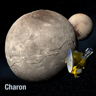 Artist's view of New Horizon and Charon