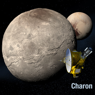 Artist's rendering of Charon and New Horizon