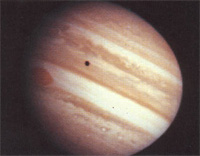 Pioneer 10 image of Jupiter from 1973