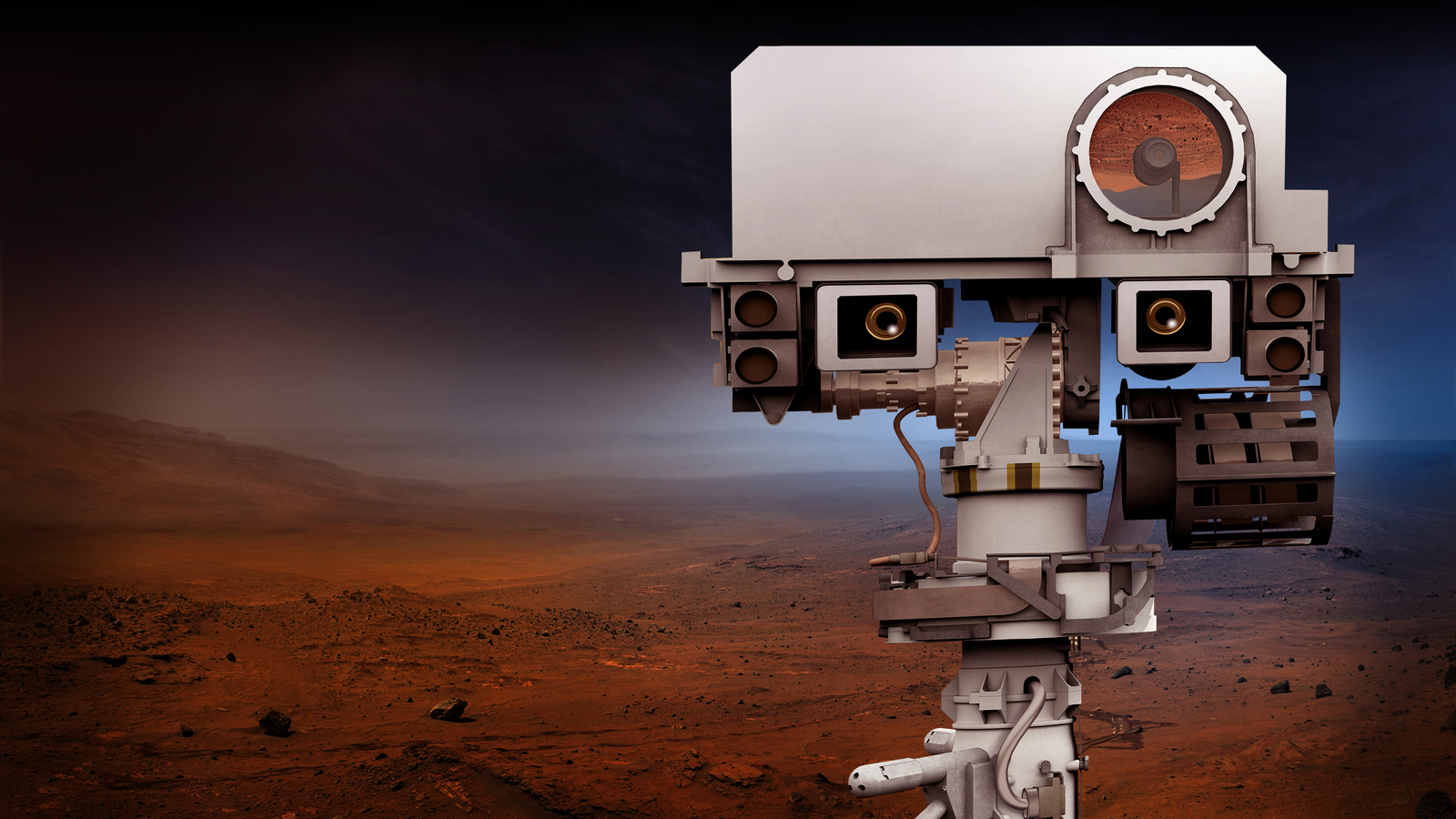 slide 4 - Artist's concept of the Mars 2020 rover
