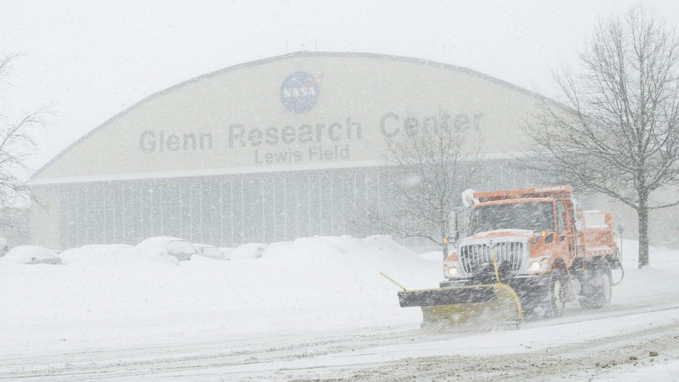 slide 3 - NASA's Glenn under the snow