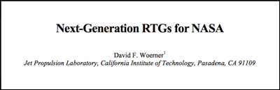 Next-Generation RTGs for NASA