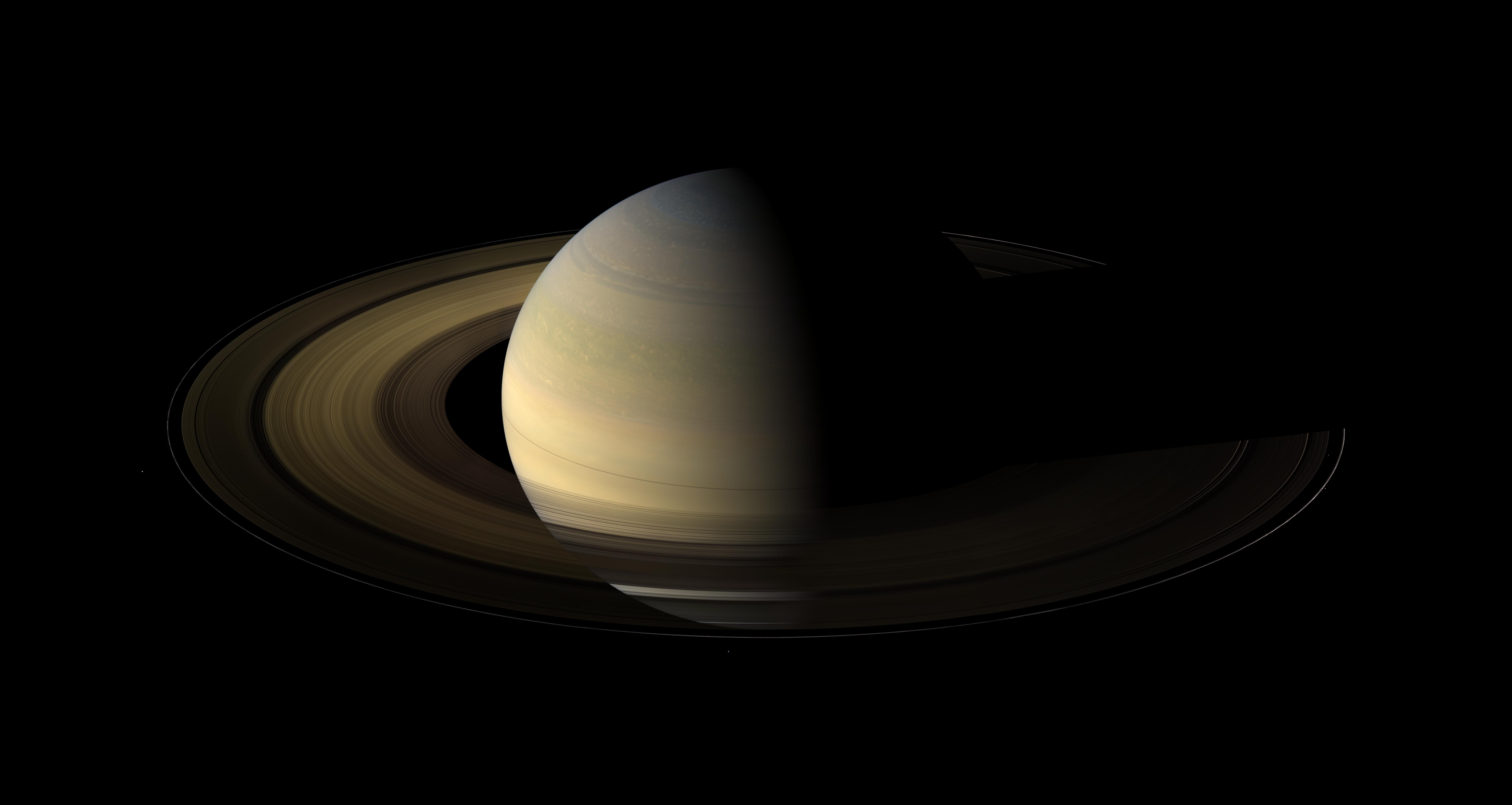 Saturn's equinox captured in a mosaic of light and dark,