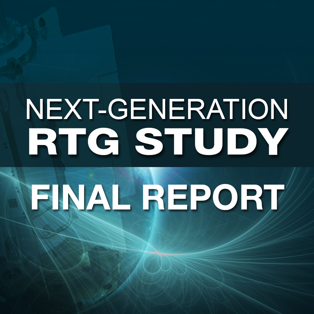 request forms for Next-Generation RTG Study Final Report